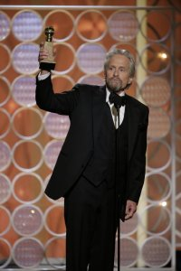 Michael Douglas accepting his award. Courtesy IMDb.