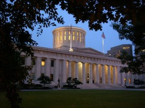 The Ohio Statehouse, Columbus.