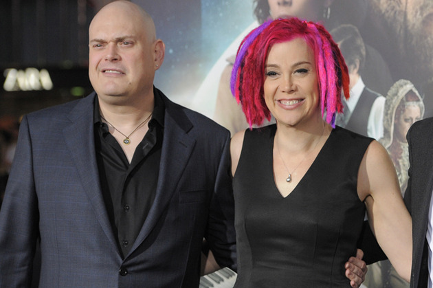 Andy and Lana Wachowski at the premiere of Cloud Atlas.