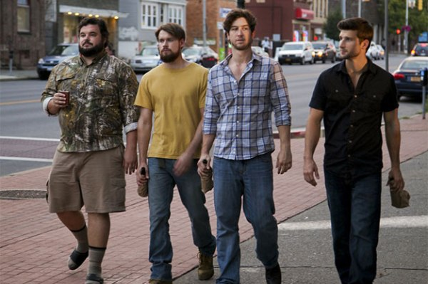 Parker Young, Evan Todd, Chord Overstreet and Jon Gabrus in 4th Man Out.